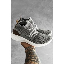 Light gray men's shoes ZX0162