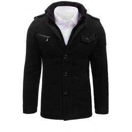 Férfi fekete kabát CX0399