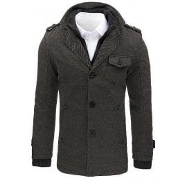 Férfi szürke halszálkás kabát CX0404