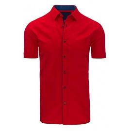 Red men's elegant shirt KX0776