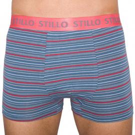 Férfi boxerszürke, piros csíkokkal (STP-010)