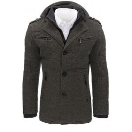Férfi szürke halszálkás kabát CX0403