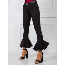 RUE PARIS Czarne spodnie jeansowe