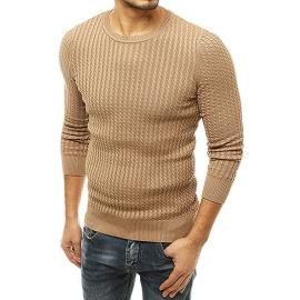 Bézs színű férfi pulóver WX1661