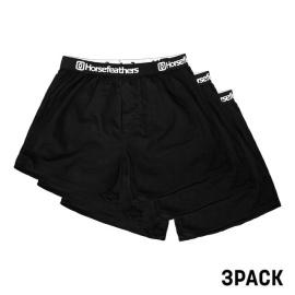 3PACK férfi rövidnadrág Horsefeathers Frazier black (AM096A)