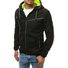 Fekete férfi softshell kabát kapucnival TX3326